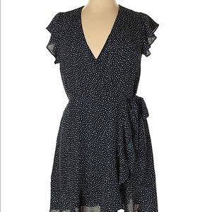 Banana Republic Navy & white  Wrap Dress